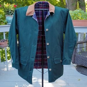 Reversible Jacket LL.Bean-like New Condition Cotton Flannel Lined